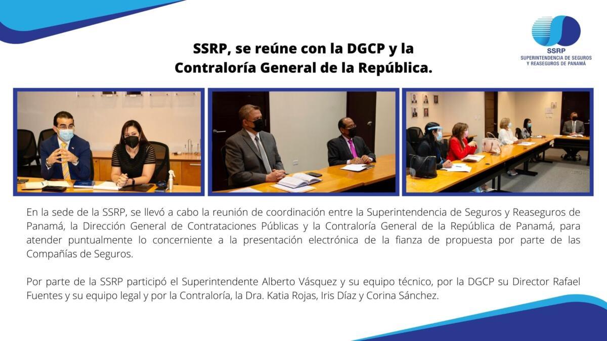 SSRP se reúne con la DGCP y la Contraloría General de la República